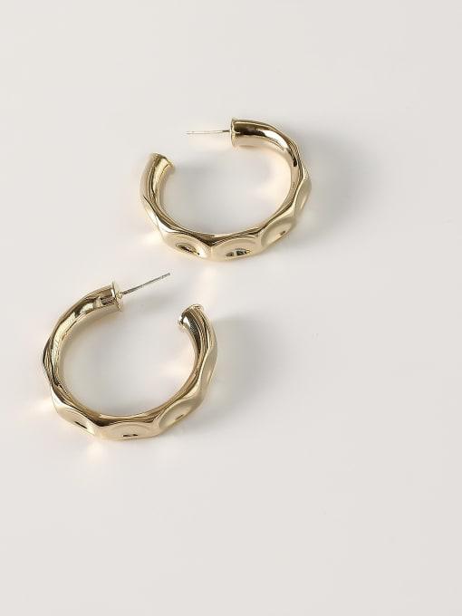 14k Gold [small 3.8cm] Brass Geometric Minimalist Hoop Earring